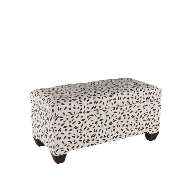 Grays Ferry Tufted Wood Storage Bench by Wrought Studio