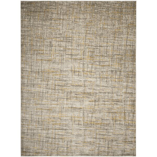 Elvis Gray/Yellow Area Rug by Zipcode Design