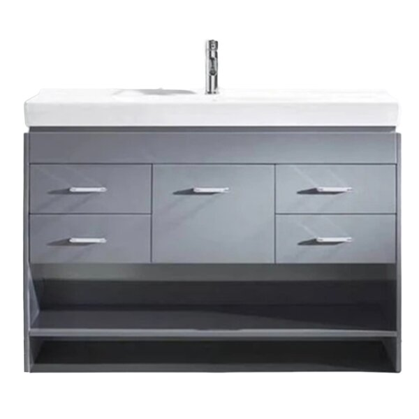 Marsan 48 Wall-Mounted Single Bathroom Vanity Set by Orren Ellis