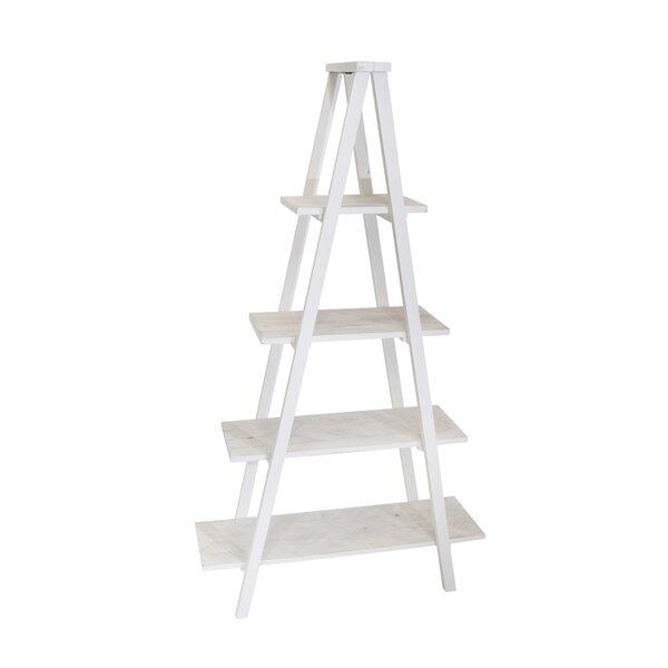 Prickett Wood 4 Shelf Ladder Bookcase By August Grove