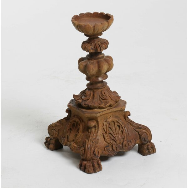 Baroque Outdoor Candleholder by OrlandiStatuary