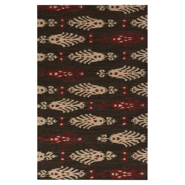Charleville Espresso Plaid Area Rug by Loon Peak