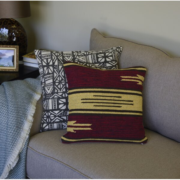 Lyndon Art Cotton Throw Pillow by Millwood Pines