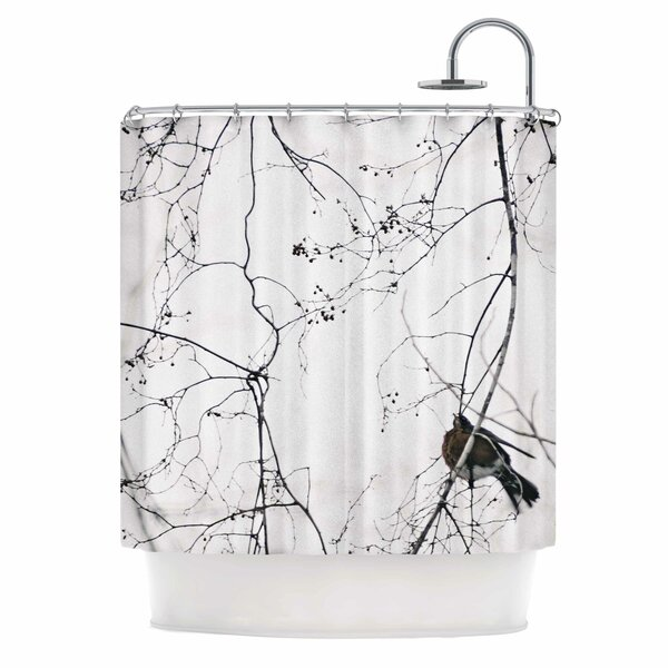 Vintage Bird At Dusk by Qing Ji Shower Curtain by East Urban Home