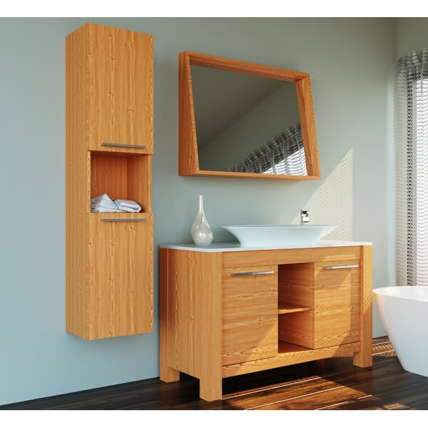 Nico 47 Single Bathroom Vanity Set with Mirror by Orren Ellis
