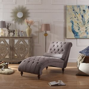 Yarmouth Chaise Tufted Lounge Chair : living room furniture chaise - Sectionals, Sofas & Couches