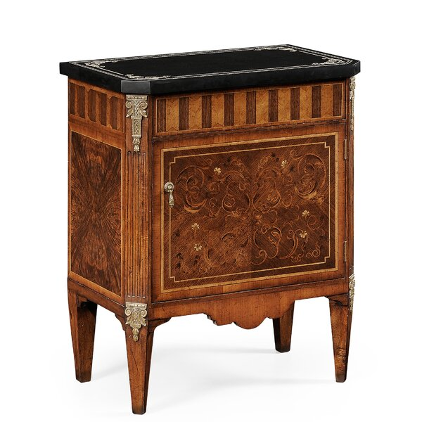 Venetian Small Scagliola Italian Commode 1 Drawer Accent Chest by Jonathan Charles Fine Furniture