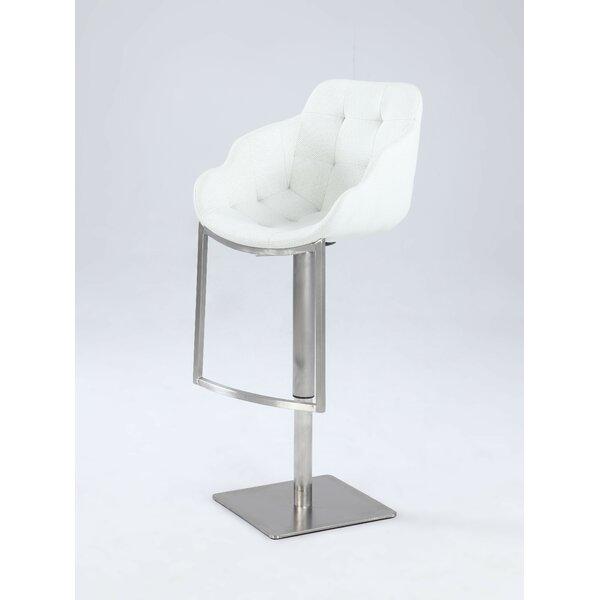 Nazia Adjustable Height Bar Stool by Orren Ellis