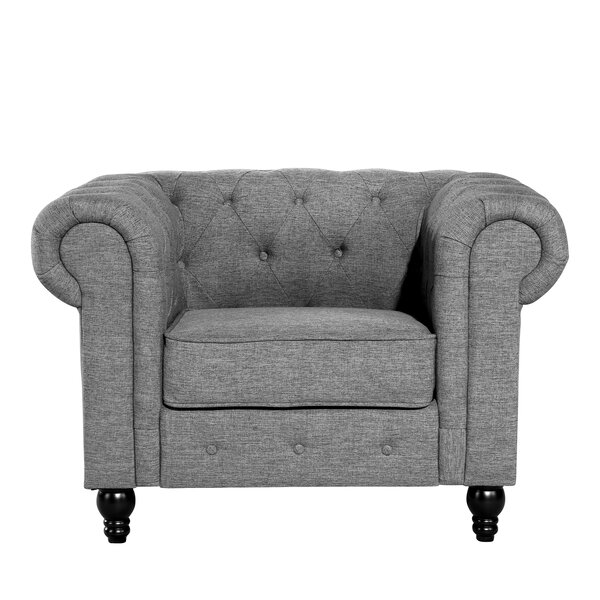 Audrey Chesterfield Chair by Charlton Home