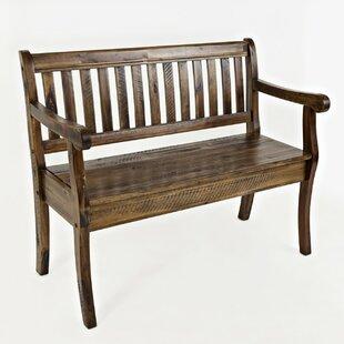 Kellogg Slat Pattern Wood Storage Bench