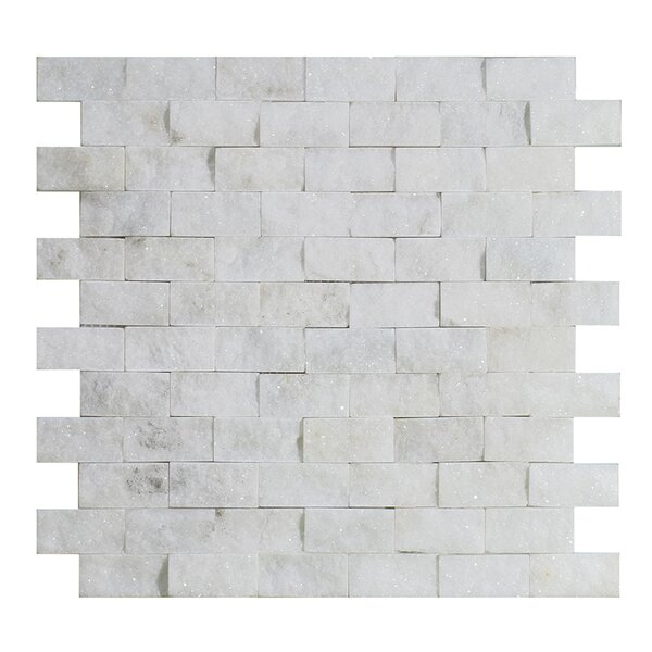 Milas 1 x 2 Marble Mosaic Tile in White by Seven Seas