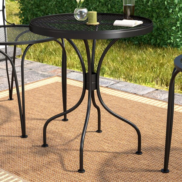 Bissette Wrought Iron Side Table by Charlton Home