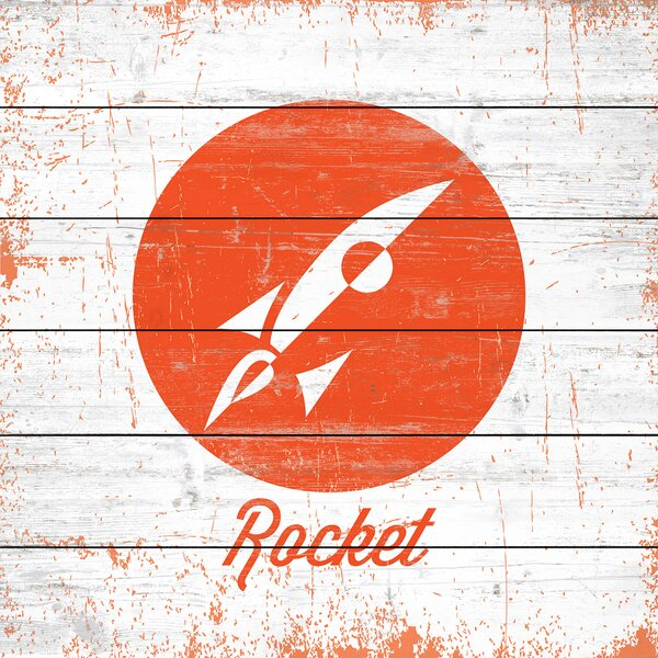 Rocket Graphic Art on Wood by Marmont Hill