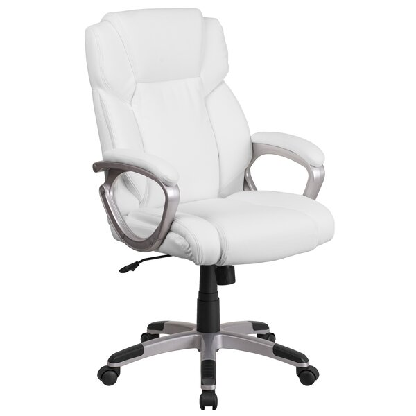 Baltz Mid Back Swivel Executive Chair by Ebern Designs