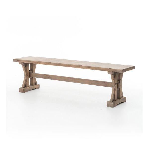 Dauphin Wood Bench by Gracie Oaks