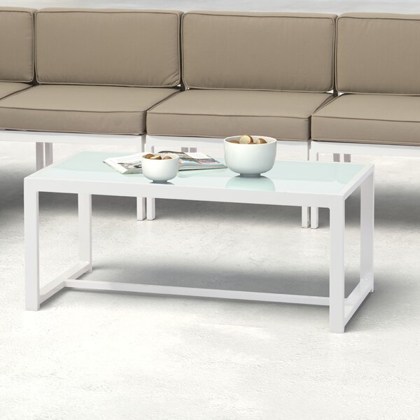 Hedy Glass Coffee Table by Orren Ellis