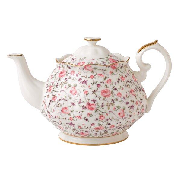 Rose Confetti Formal Vintage Teapot by Royal Albert