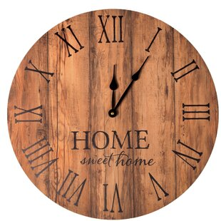 Elroy Home Sweet Home 17 Wall Clock by Gracie Oaks