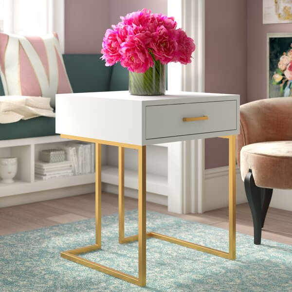 Deana Sled End Table with Storage by Willa Arlo Interiors Willa Arlo Interiors