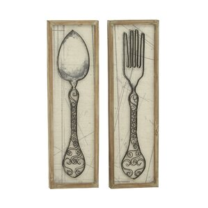 Spoon And Fork Wall Decor large spoon and fork wall decor | wayfair