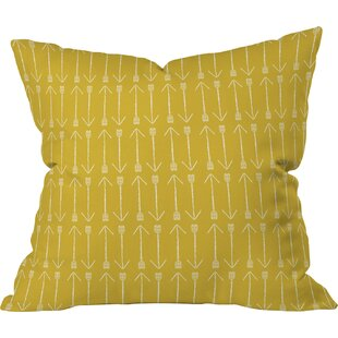 Delicieux Chartreuse Arrows Pillow