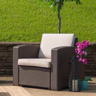 Swell Clifford Faux Rattan Patio Chair With Cushion Andrewgaddart Wooden Chair Designs For Living Room Andrewgaddartcom