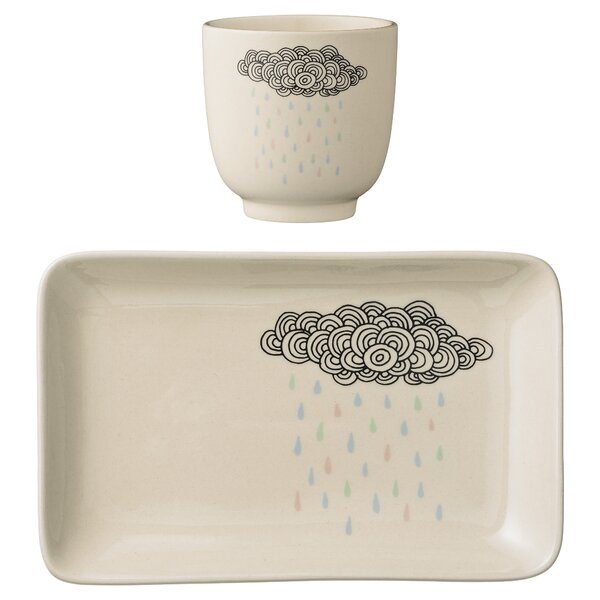 Ignacio Ceramic Rain Cloud 2 Piece 4.75 Appetizer Plate Set by Viv + Rae