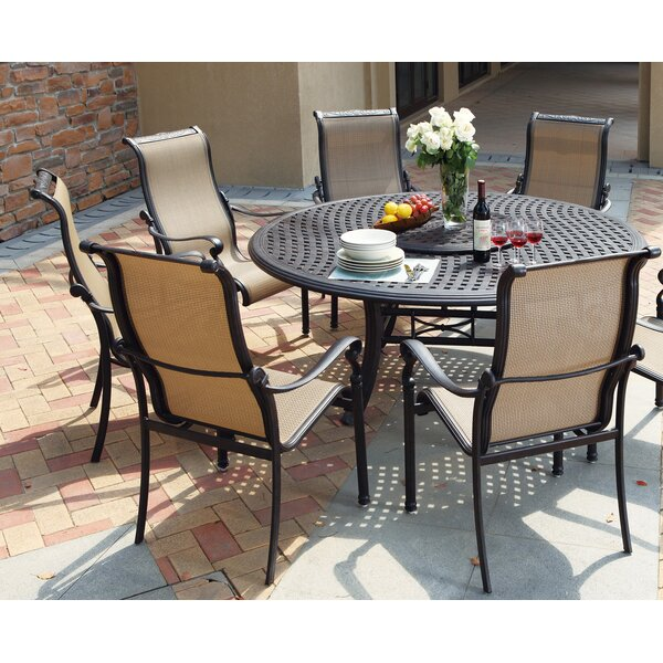 Bagwell 7 Piece Round Dining Set by Darby Home Co
