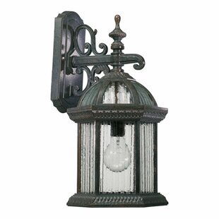 Top Reviews Kason 1-Light Outdoor Wall lantern By Alcott Hill