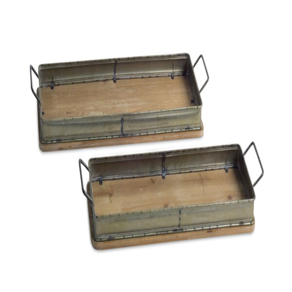 Jones 2 Piece Serving Tray Set by Millwood Pines