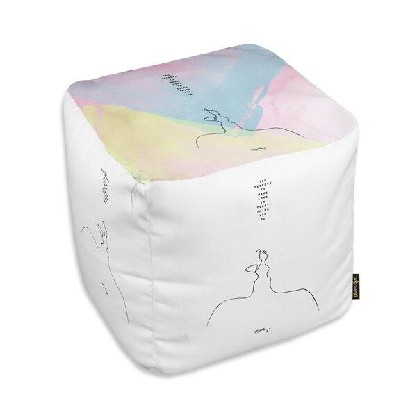 Akins Make Love Cube Ottoman by Ebern Designs Ebern Designs