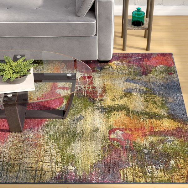 Ronda Green/Blue Indoor/Outdoor Area Rug by Ebern Designs