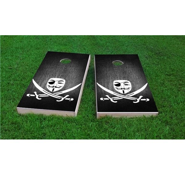 Anonymous Piracy Light Weight Cornhole Game Set by Custom Cornhole Boards