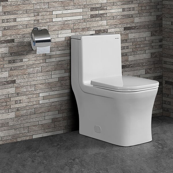 Concorde® Dual-Flush Square One-Piece Toilet (Seat Included) by Swiss Madison