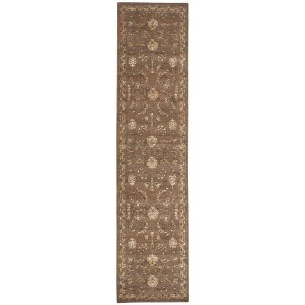 Eidelweiss Leaf and Vine Cocoa Area Rug by Darby Home Co