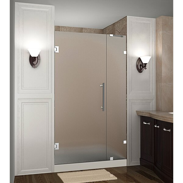 Nautis 31 x 72 Hinged Completely Frameless Shower Door by Aston