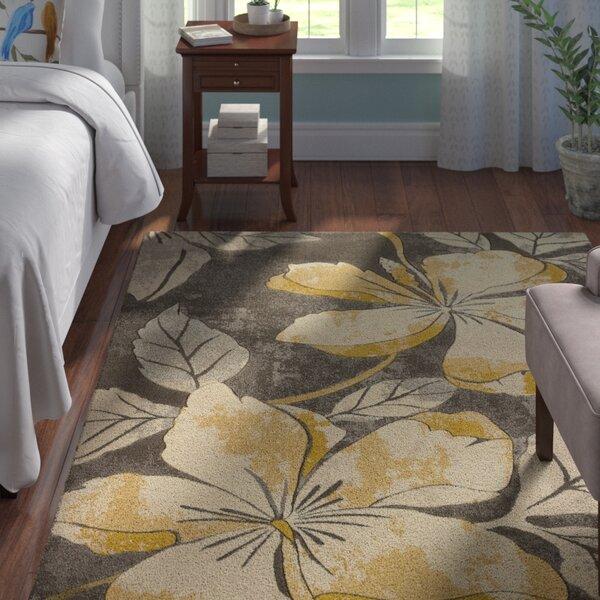 Ganley Floral Canvas Area Rug by Andover Mills