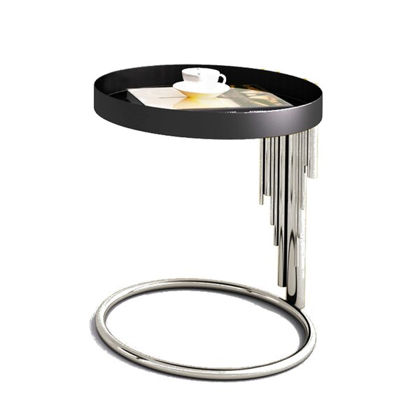 Flaherty Stainless Steel End Table by Everly Quinn
