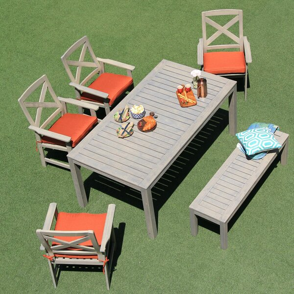 Wirksworth 6 Piece Dining Set with Cushions by Ebern Designs