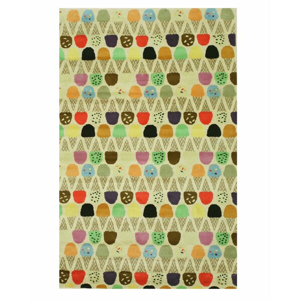 Kids Ice Cream Cone Hand Tufted Ivory Area Rug by Eastern Rugs
