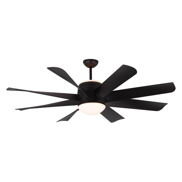 56 Zawacki 8 Blade Ceiling Fan with Remote by Lati