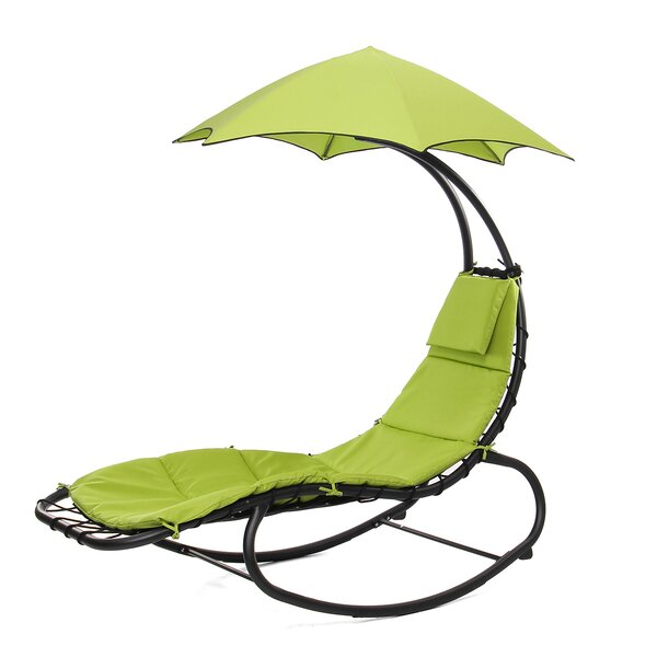 Eula Hanging Chaise Lounger with Stand by Freeport Park