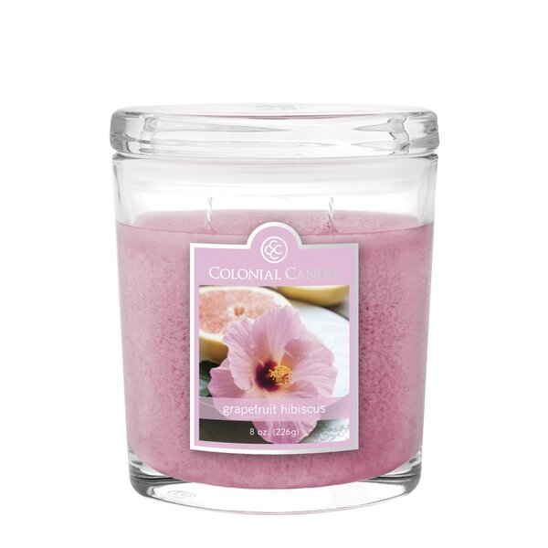Grapefruit Hibiscus 8 oz. Jar Candle by Colonial Candle