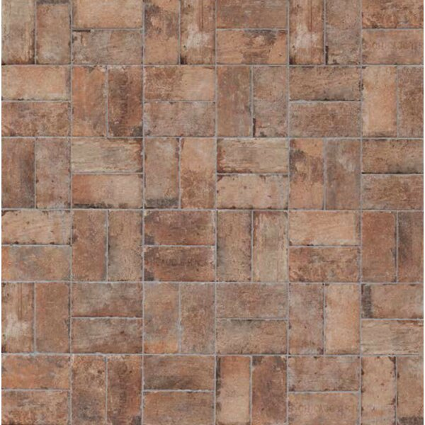Chicago Brick 8 x 16 Porcelain Mosaic Tile in Old Chicago by Tesoro
