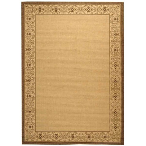 Lansbury Brown/Tan Indoor/Outdoor Area Rug by Charlton Home