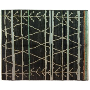 Find a One-of-a-Kind Moroccan Hand-Knotted Black Area Rug By Darya Rugs