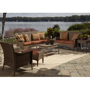 Key Biscayne 5 Piece Sofa Seating Group with Cushions ByPanama Jack Outdoor