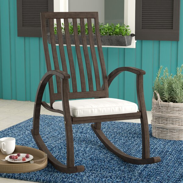 Labarre Outdoor Rocking Chair with Cushions by Winston Porter