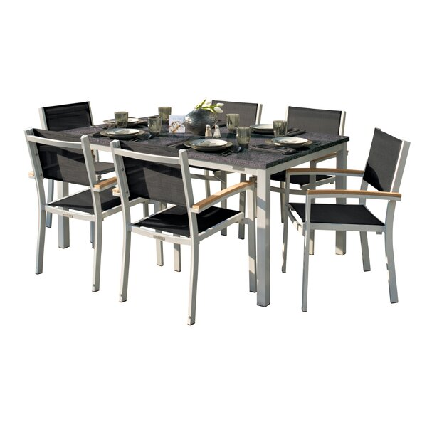 Laskowski 7 Piece Teak Dining Set by Latitude Run