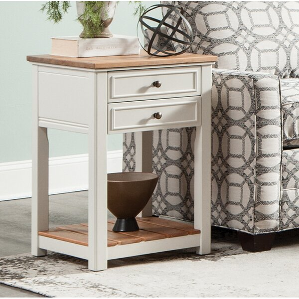 Gilmore 2-Drawer End Table by Rosecliff Heights